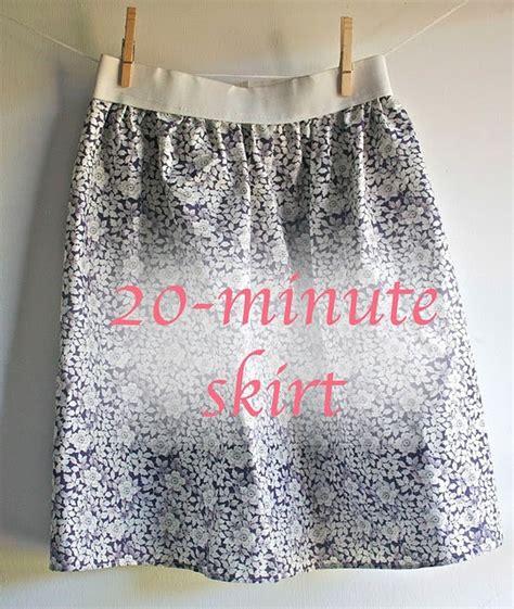 pattern simple elastic waist skirt add the elastic waistband diy clothes pinterest