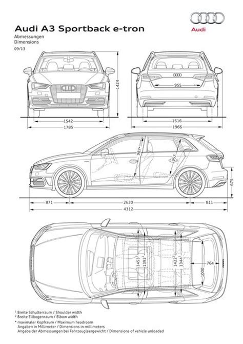 Audi A3 Sportback Abmessungen by Audi A3 Sportback E Tron 2014 Autokatalog Ma 223 E