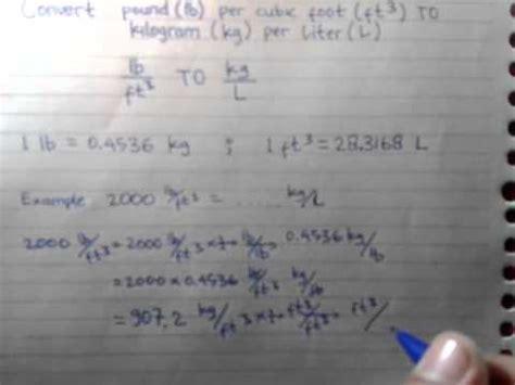 convert pound per cubic foot to kilogram per liter