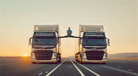 volvo trucks challenge jean claude van  brand friend