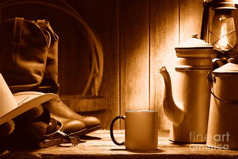 Coffee Olivier coffee at the ranch sepia photograph by olivier le queinec