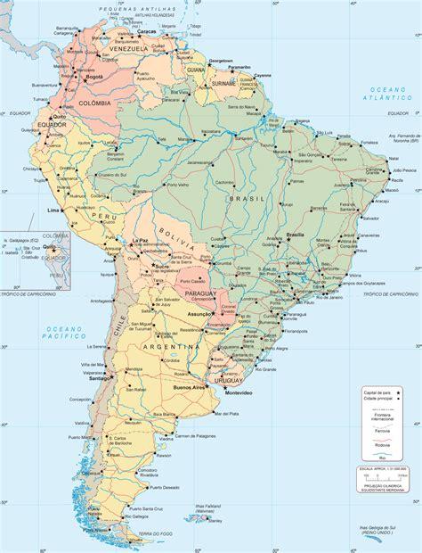 mapa a america do sul mapa da am 233 rica do sul