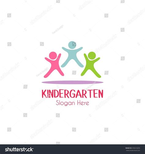 school logo design template play designkids logokindergarten school logolearning