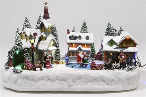lumineo christmas village happy holidays