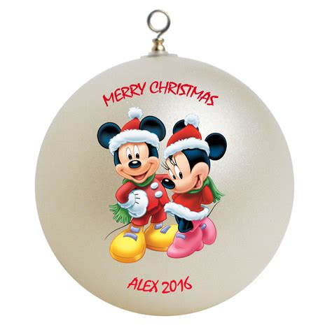 personalized mickey mouse and minnie mouse christmas