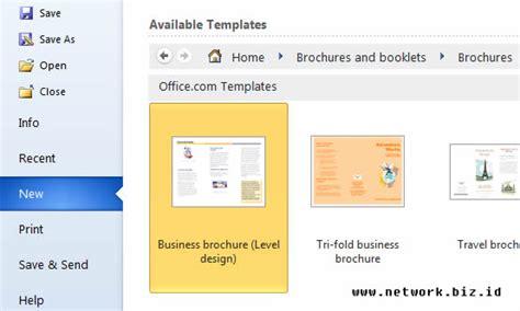 membuat brosur dengan ms word 2013 cara membuat design brosur dengan microsoft word network