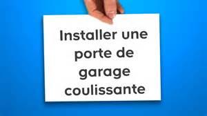 installer une porte de garage coulissante castorama
