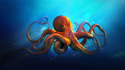 colorful octopus wallpaper underwater world animals octopus ocean sea fantasy artwork
