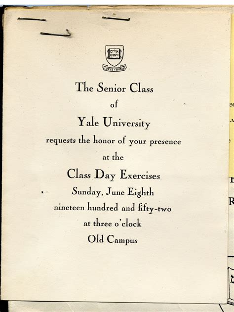 Yale Mba Invitation Date by Edith Hornik Digital Scrapbook Yale Commencement Papers