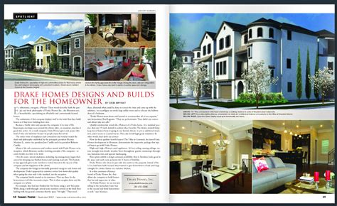 House Plans With Drake Homes Inc Featured In Houston House And Home