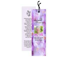 Funeral Bookmarks Template Free by Memorial Bookmarks Lavender Bookmark Template Memorial