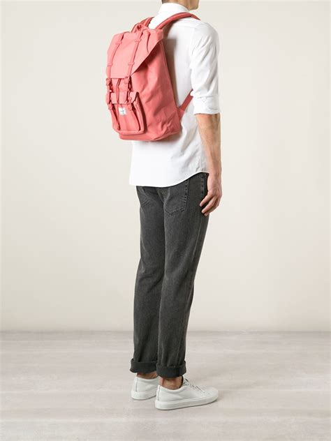 lyst herschel supply   america backpack  pink