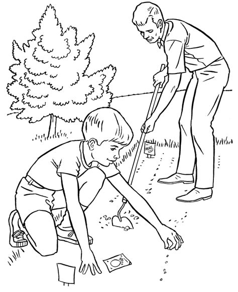 garden hoe coloring page farm work and chores coloring page planting a garden
