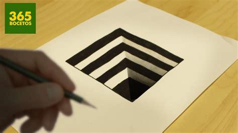 imagenes 3d a lapiz faciles increible truco como dibujar un hoyo en 3d paso a paso
