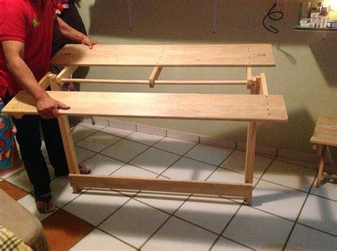 mesa comedor plegable de madera de pino  en mercado libre