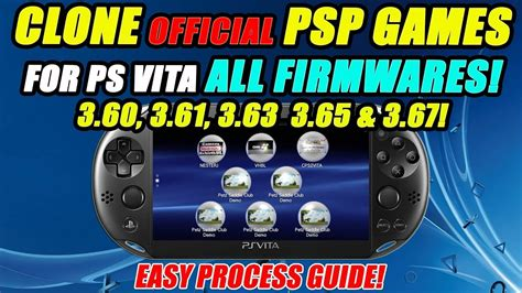 Ps Vita Firmware 3 65 clone pspgames for ps vita firmware s 3 60 3 61 3 63 3