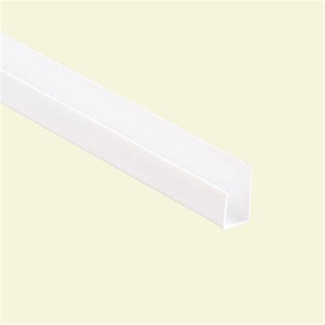 Drywall Home Depot by 8 Ft X 58 In Vinyl J Trim 50 Pack 203116182