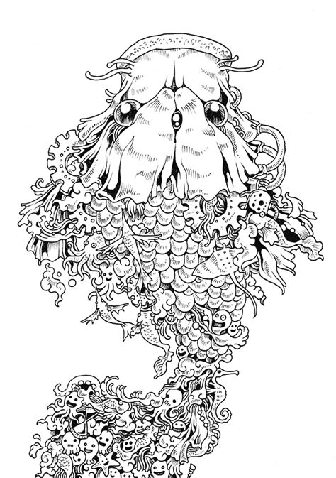 doodle invasion zifflins coloring 1492977055 doodle invasion coloring book on behance