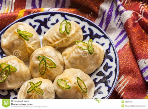 uzbek national food uzbek national food manti on traditional fabric adras