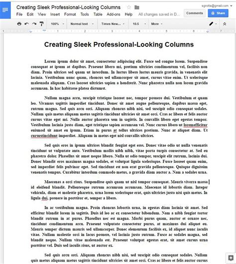 1200 Word Argumentative Essay by Create Sleek Professional Looking Newsletter Type Columns In Docs
