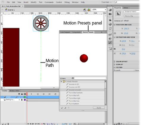 layout animation presets 1 getting around flash flash cs6 the missing manual book