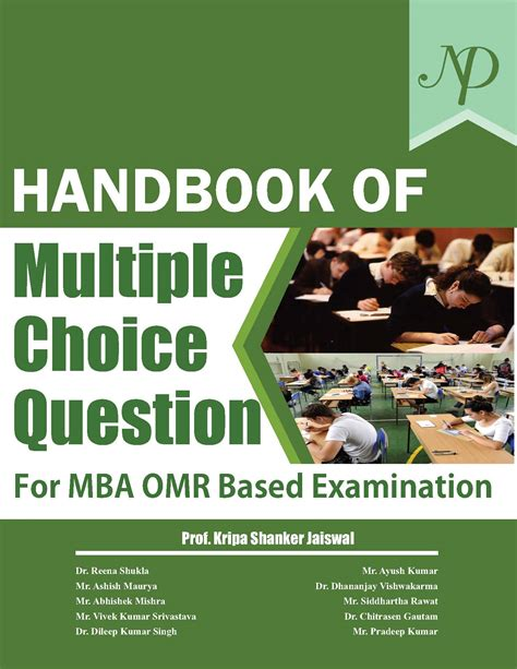 Mba Based by Handbook Of Choice Question For Mba Omr Based