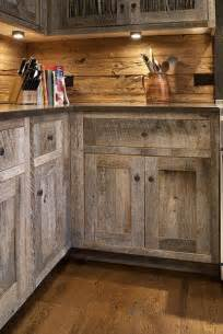 Barn Board Kitchen Cabinets Cabinets Made From Barn Wood Western Kitchens