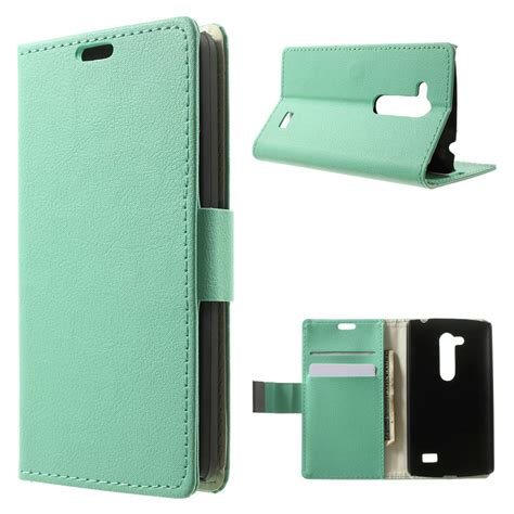 Casing Hp Lg L Fino lg l fino cyan pu leather litchi wallet
