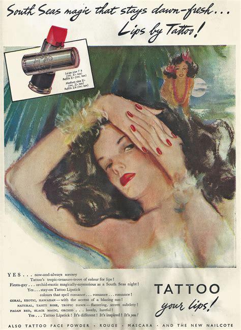 tattoo hand book tattoo advert 1947 hair and makeup artist handbook