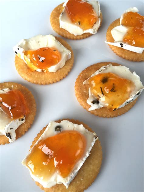 appetizers brie easy brie and jam appetizer ritz cracker bites recipe