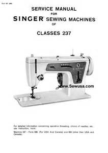 singer sewing machine repair manuals