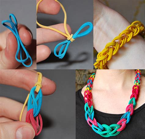 Rubber Band Necklace With Loom by How To Make Rubber Band Bracelets At Home Easily