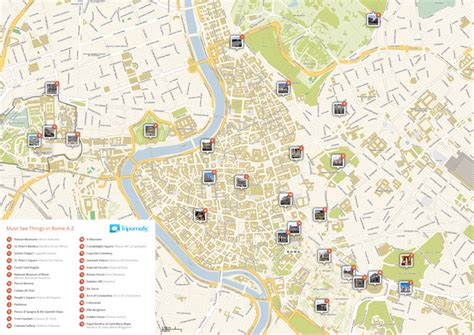 pdf maps rome tourist map in pdf sygic travel