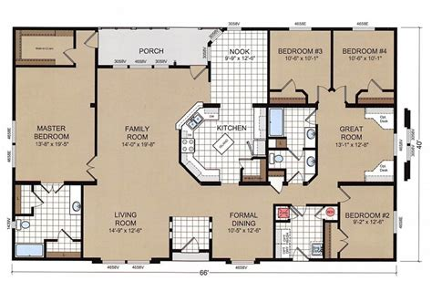 4 Bedroom Mobile Home Floor Plans by Chion Mobile Home Floor Plans New Home Plans