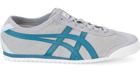 Sepatu Murah Asics Mexico 66 Tiger Grey asics grey and blue onitsuka tiger mexico 66 suede sneakers in gray for lyst
