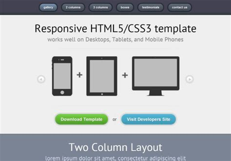 html5 responsive email template free html5 css3 html5 template responsive 01