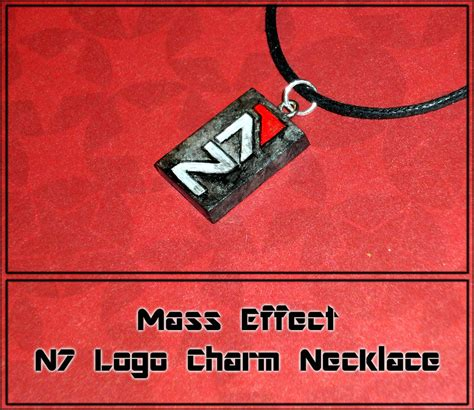 mass effect n7 logo charm necklace handmade by