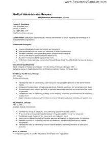 Sle Resume For Administration by Administrative Assistant Resume Sle Resume