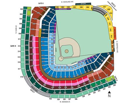 wrigley field seating wrigley field seat map my