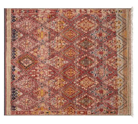 knotted rug vaughn knotted rug pottery barn