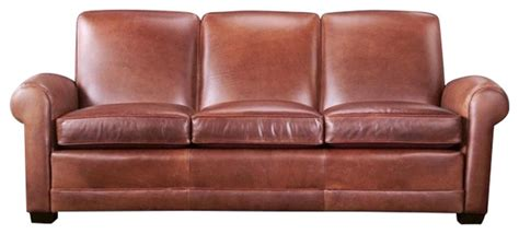 Exeter Sofa by Exeter Leather Sofa Brown Sofas By Leathercraft Inc