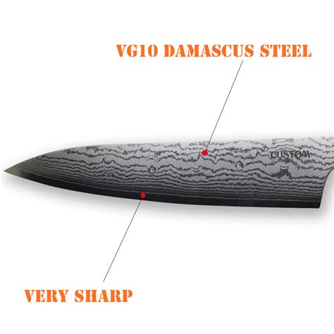 Vg10 Kitchen Knives 1pc Top Quality 6 Quot 7 Quot 9inch Vg10 Damascus Steel Japanese