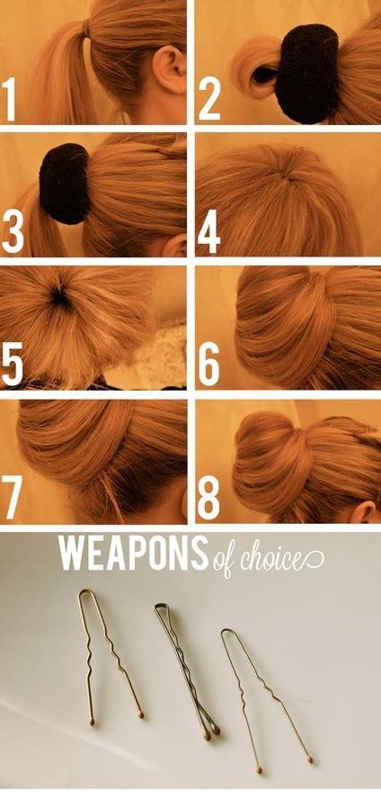 diy sock bun tutorial diy hair sock bun image 491880 on favim