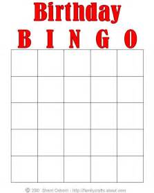 free printable bingo cards template 5 best images of free printable birthday bingo templates