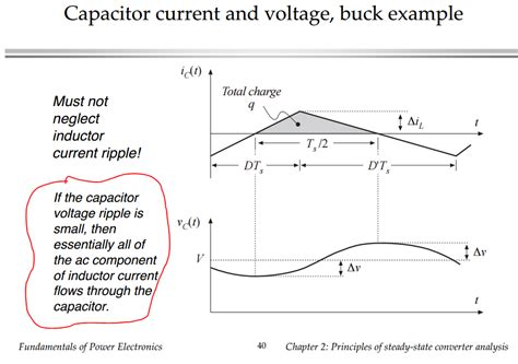 buck converter inductor capacitor circuit analysis capacitor voltage ripple in buck converter electrical engineering stack