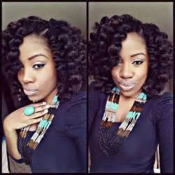crochet weave hairstyles with bob marley crochet braids using marley hair then roller set with