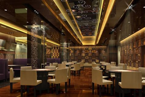 wallpaper design restaurant small restaurant european contempoary decor 3d