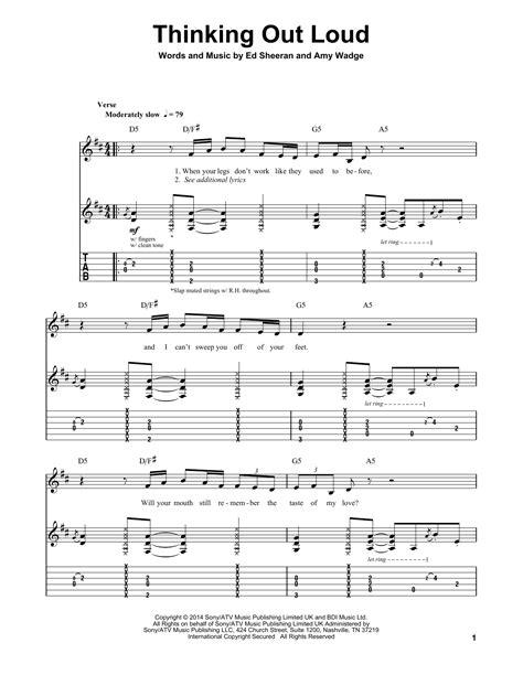 tutorial chord gitar thinking out loud thinking out loud by ed sheeran guitar tab play along