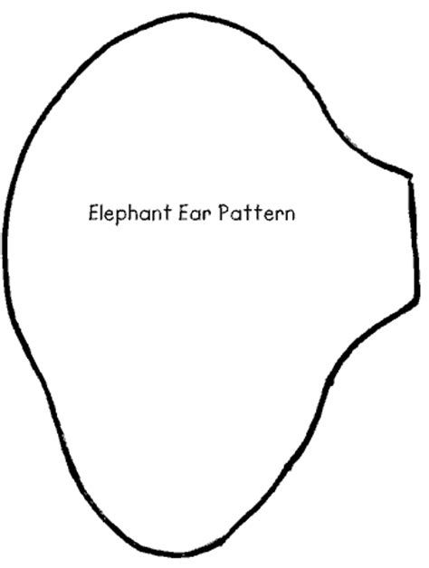 elephant ear template elephant ears and trunk template www pixshark