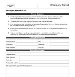 referral template employee referral form employee referral form template